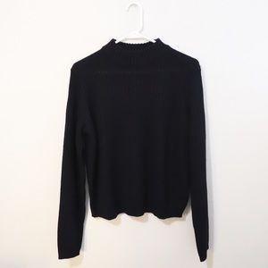 H&M knit mock neck sweater